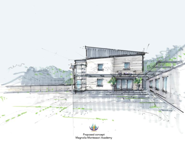 Magnolia Montessori Academy concept drawing